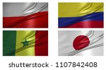 soccer flag country world... | Shutterstock . vector #1107842408