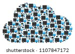 cloud collage made from...   Shutterstock .eps vector #1107847172