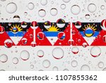 flags  of antigua and barbuda... | Shutterstock . vector #1107855362