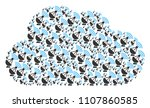 cloud collage constructed of... | Shutterstock .eps vector #1107860585