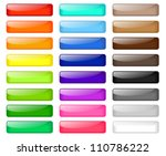 set of colored web buttons | Shutterstock .eps vector #110786222
