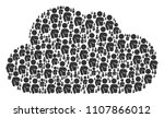 cloud figure composed with... | Shutterstock .eps vector #1107866012