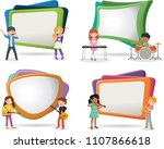 text box frame background with... | Shutterstock .eps vector #1107866618