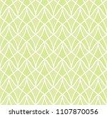 classic green art deco seamless ... | Shutterstock .eps vector #1107870056