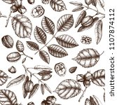 seamless pattern with hand... | Shutterstock .eps vector #1107874112