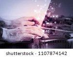 social media and marketing...   Shutterstock . vector #1107874142