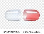 empty transparent capsules.... | Shutterstock .eps vector #1107876338