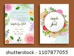 wedding invitation  invitation... | Shutterstock .eps vector #1107877055