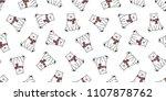 bear seamless pattern polar... | Shutterstock .eps vector #1107878762