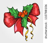 colorful christmas sketch with... | Shutterstock .eps vector #110788106