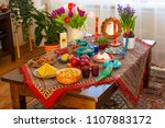 haft seen traditional table of... | Shutterstock . vector #1107883172