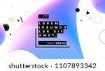 geometric background design.... | Shutterstock .eps vector #1107893342
