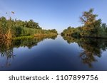 landscape in the danube delta ... | Shutterstock . vector #1107899756