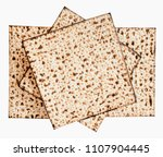 traditional jewish matzoth... | Shutterstock . vector #1107904445