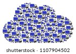 cloud figure composed of...   Shutterstock .eps vector #1107904502