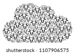cloud mosaic formed from cow... | Shutterstock .eps vector #1107906575