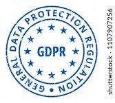 eu gdpr label illustration | Shutterstock .eps vector #1107907256
