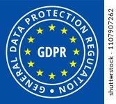 eu gdpr label illustration | Shutterstock .eps vector #1107907262