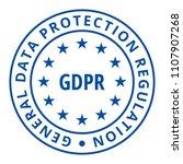 eu gdpr label illustration | Shutterstock .eps vector #1107907268