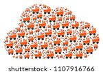 cloud mosaic constructed of... | Shutterstock .eps vector #1107916766