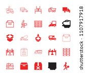 deliver icon. collection of 25... | Shutterstock .eps vector #1107917918