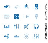 volume icon. collection of 16... | Shutterstock .eps vector #1107917942