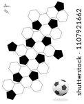 truncated icosahedron. soccer...   Shutterstock .eps vector #1107921662