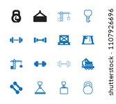 lifting icon. collection of 16... | Shutterstock .eps vector #1107926696