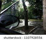 road trip  beautiful rainy... | Shutterstock . vector #1107928556