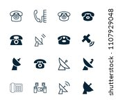 receiver icon. collection of 16 ... | Shutterstock .eps vector #1107929048