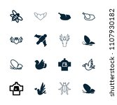 wing icon. collection of 16... | Shutterstock .eps vector #1107930182