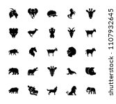 mammal icon. collection of 25... | Shutterstock .eps vector #1107932645