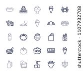 delicious icon. collection of... | Shutterstock .eps vector #1107932708