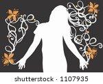 a female silhouette | Shutterstock .eps vector #1107935