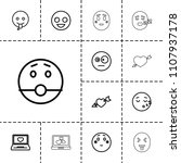 feeling icon. collection of 13... | Shutterstock .eps vector #1107937178