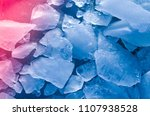 shards of ice blue color toned... | Shutterstock . vector #1107938528