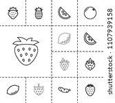 juicy icon. collection of 13... | Shutterstock .eps vector #1107939158