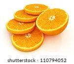 sliced orange and half oranges | Shutterstock . vector #110794052