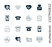 cardiogram icon. collection of... | Shutterstock .eps vector #1107942812