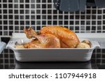 whole hot oven cooked roast... | Shutterstock . vector #1107944918
