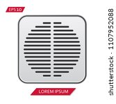 speaker grill vector icon symbol