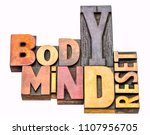 body and mind reset   isolated... | Shutterstock . vector #1107956705