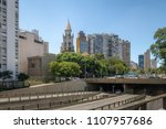 view of elevated highway known...   Shutterstock . vector #1107957686
