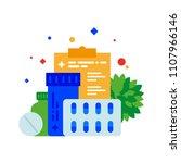 prescription drugs. a variety... | Shutterstock .eps vector #1107966146