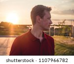 young caucasian handsome man... | Shutterstock . vector #1107966782