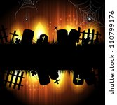 halloween background with... | Shutterstock .eps vector #110799176