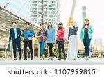 group of multiethnic various...   Shutterstock . vector #1107999815