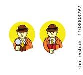 detective sherlock holmes | Shutterstock .eps vector #1108003292