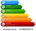 rainbow presentation decending... | Shutterstock .eps vector #1108004072