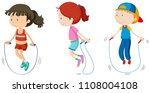 set of children skipping... | Shutterstock .eps vector #1108004108
